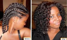 Flat twist out for natural hair roll the ends for a more defined look. Flat Twist Out, Twist Outs, Rope Twist, Natural Hair Journey, Natural Hair Care, Natural Hair Styles, Natural Beauty, Twist Hairstyles, Cool Hairstyles