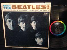 Meet The Beatles MONO LP Vinyl Record Capitol Rainbow Label T-2047 Seam Split