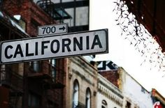 California Street in San Francisco . A Well Traveled Woman, San Francisco, Nyc, California Dreamin', California History, Street Signs, Where The Heart Is, Oh The Places You'll Go, So Little Time