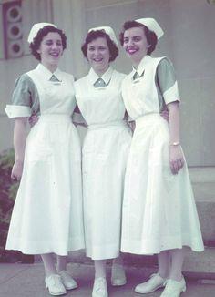 Student nurses, 1950s. #vintage #nurses #uniforms