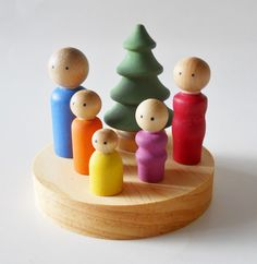 Hey, I found this really awesome Etsy listing at https://www.etsy.com/listing/176664960/little-peg-people-wooden-dolls-wood