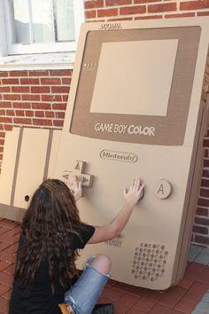 Cardboard Game Boy