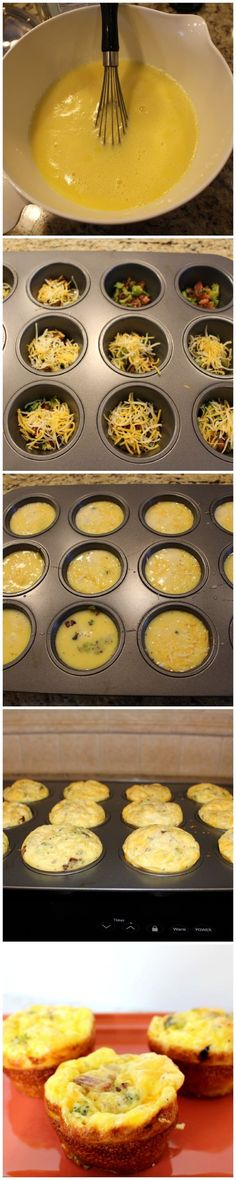omelet muffins -- easy for large groups or breakfast on the go!