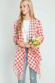 Roll-Up Sleeve Open Cardigan