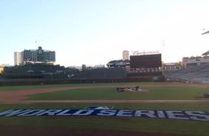 #WorldSeries paint at Wrigley Field.