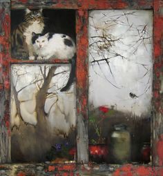art & windows <3 Summer is Gone - Maria Chepeleva - Oil painting, 2011 - Phabulous full view