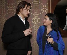 Diana Gabaldon Finally Meets Sam Heughan and Caitriona Balfe, 10Jan2014