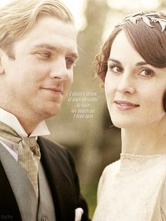There's that little smile that appears on Matthew when he gazes about Lady Mary. How will she survive the loss?