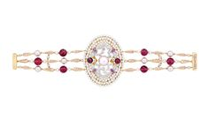 Chanel Secrets D'Orient Byzance Bracelet in 18 karat white and pink gold, diamonds, cultured pearls, pink sapphires and rubellites @josephine vogel