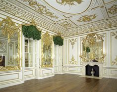 The Music Room from Norfolk House, London. The Rococo style was used primarily in furniture, silver and ceramics, rather than architecture. It takes its name from the French rocaille (pronounced 'rock-eye'), which means the rock or broken shell motifs that often formed part of the designs. Rococo was fashionable from about 1730 to 1770. © Victoria & Albert Museum. vam.ac.uk