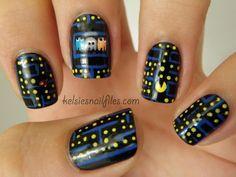 Kelsie's Nail Files: Pacman nail art!