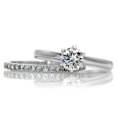 Petite Wedding Ring Set ~ Simple Yet Beautiful $69.99 SS + CZ
