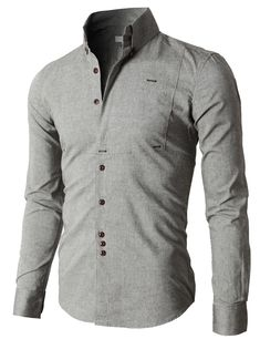 Doublju Premium Slim Fit Designed Button-down Shirts (KMTSTL0218) #doublju