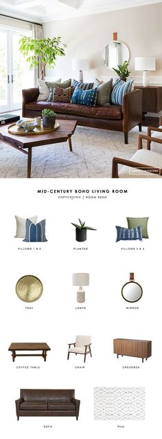 Copy Cat Chic Room Redo | Mid Century Boho Living Room | Copy Cat Chic | Bloglovin'