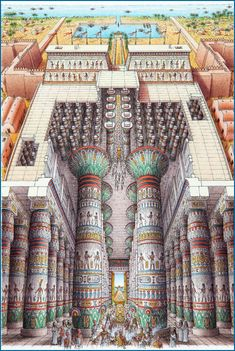 Stephen Biesty - Illustrator - Inside-out Views_Temple of Amun-Ra