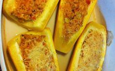 Courgettes jaunes farcies au poulet : Recette de Courgettes jaunes farcies au poulet - Marmiton
