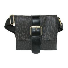25% Off was $19.95, now is $14.95! CTM® Womens Faux Leather Leopard Print Adjustable Waist Fanny Pack