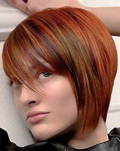 Short Hair Colour Ideas 2012 - 2013 | 2013 Short Haircut for Women. Ooh... interesting.