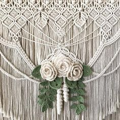Macrame Wall Hanging Made with Cotton Cord Macrame Wall Hanging Patterns, Large Macrame Wall Hanging, Macrame Art, Macrame Design, Macrame Patterns, Art Macramé, Small Wall Decor, Yarn Wall Art, Macrame Curtain