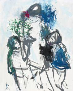 Sin título. Óleo sobre lienzo. 162 x 130 cm. 1997. - Artista: Jorge Rando