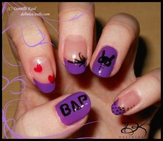 Nail Art: BAP by Delinlea