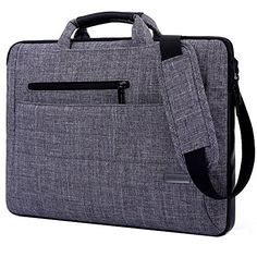 This laptop bag not only looks stylish, but will also protect your laptop while you're out and about. The bag is padded using fusible fleece, and features