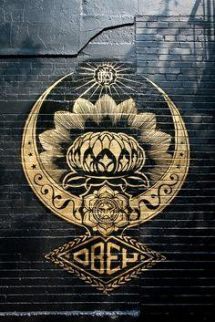 Collection of awesome street art, wall murals, freewalls & graffiti urban art on Mr Pilgrim Art Online Graffiti Artwork, Street Art Graffiti, Graffiti Tattoo, Yarn Bombing, Et Tattoo, Urbane Kunst, Lotus Mandala, Lotus Flower, Art Design
