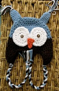 Free crochet pattern for an Owl hat.  Also check out this site for a ton more free patterns: http://www.crochetpatterncentral.com/directory/baby_hats.php