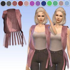 Arthurlumierecc: Momo Leather Vest Acc • Sims 4 Downloads
