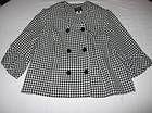 Jacket 24W Houndstooth Blazer Swing Spring Geometric Black White by Sweet Woman