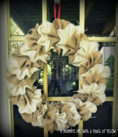 two toned burlap wreath