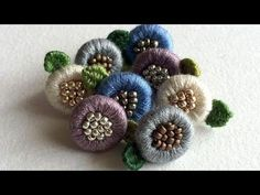 Creative beautiful button for kurties, blouse – Handwerk und Basteln Embroidery Leaf, Hand Embroidery Videos, Japanese Embroidery, Hand Embroidery Stitches, Hand Embroidery Designs, Embroidery Techniques, Machine Embroidery, Diy Tresses, Fancy Buttons