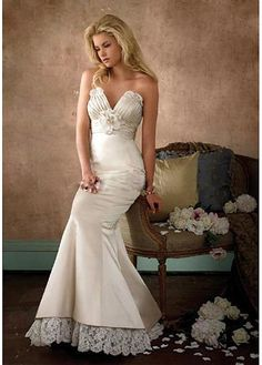 LACE BRIDESMAID PARTY BALL EVENING GOWN IVORY WHITE FORMAL PROM MERMAID SATIN LACE EXQUISITE WEDDING DRESS