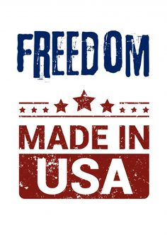 Freedon made in USA | DEMOCRACY DELIVERED | Send real postcards online | Democracy Delivered