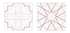 The geometry islamic patterns! Arabic Pattern, Geometry Pattern, Geometry Art, Sacred Geometry, Pattern Art, Pattern Design, Islamic Motifs, Islamic Tiles, Islamic Patterns