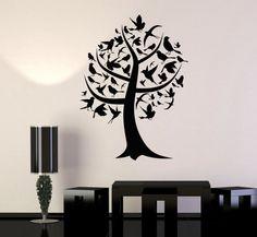 Wall Art Mural Tree Branch Nature Birds Guaranteed by BoldArtsy