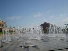 water fountain at Emirates Palace