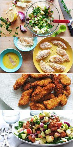 Crispy Chicken w/ Apple Salad`