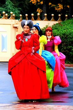 Cinderella Stepmother and Stepsisters Cosplay
