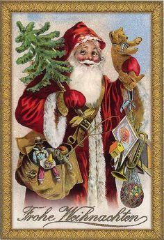 I remember my grandma teaching me how to say this. German Christmas Traditions, German Christmas Decorations, German Christmas Ornaments, Vintage Christmas Images, Victorian Christmas, Vintage Holiday, Christmas Art, Christmas Greetings, Christmas Mantles