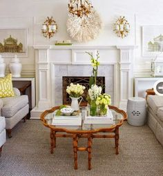 Interior: Sunny living and dining room