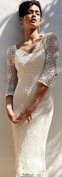23 super Ideas for crochet vestidos fashion ideas Crochet Skirts, Crochet Clothes, Irish Crochet, Crochet Lace, The Dress, Dress Skirt, Dress Patterns, Crochet Patterns, Crochet Wedding Dresses