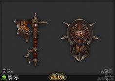 Warcraft Weapons, Calvin Boice on ArtStation at https://www.artstation.com/artwork/warcraft-weapons
