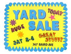 Step up your yard sales and garage sales with an awesome sign using ArtSkills large pre-cut shapes! #fundraising