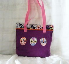 "Make everyday the "" Day of the Dead"" with this Medium Tote Bag by MASBags, $15.00 USD"