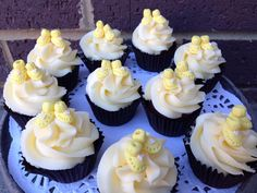 Babyshower cupcakes #booties #whippedwithlove #redvelvet #cupcakes