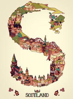 S is for Scotland by ~kchilt Stirling Castle, Eilean Donan, England Ireland, Edinburgh Castle, Scotland Travel, Glasgow Scotland, Inverness, Travel Posters, Great Britain