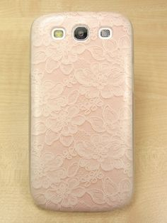 Samsung galaxy s3 case Lace Flower Pattern Hard samsung galaxy s3 Cover.