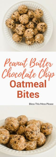 Peanut Butter Chocolate Chip Oatmeal Energy Bites Author: Melissa Griffiths Prep time: 5 mins Total time: 5 mins Serves: Makes 20-25 balls