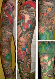 Colorfull musical sleeve